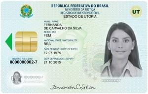 Representação do documentos RIC - Registro de Identidade Civil