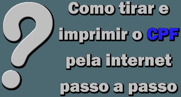 Como tirar e imprimir o CPF pela internet