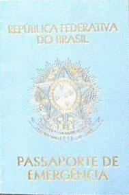 Representação do Documento Passaporte de emergência