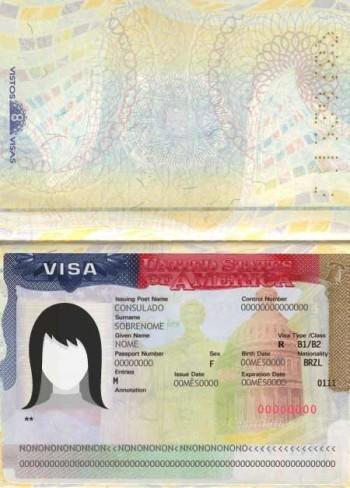 Representação do documento Visto Americano - Como tirar o visto americano