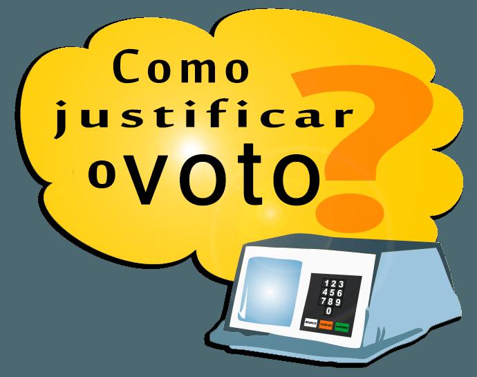 como justificar voto