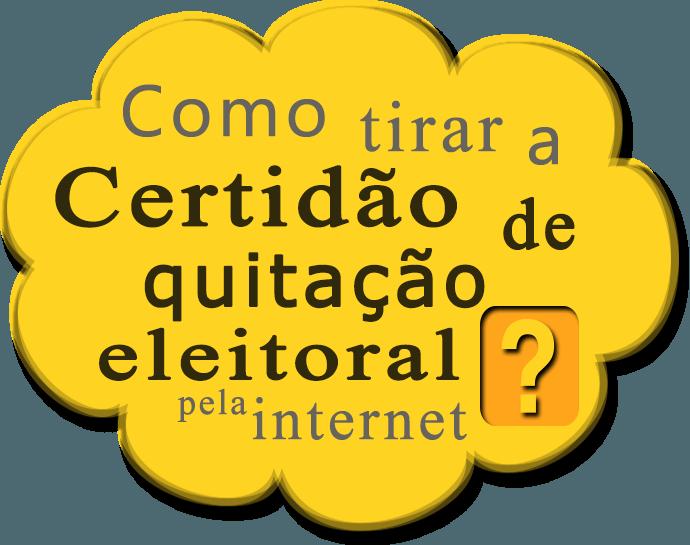 Como tirar a Certidão de Quitação Eleitoral pela internet