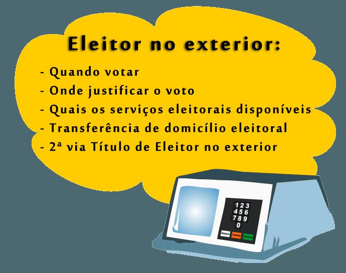 Informações sobre eleitor no exterior