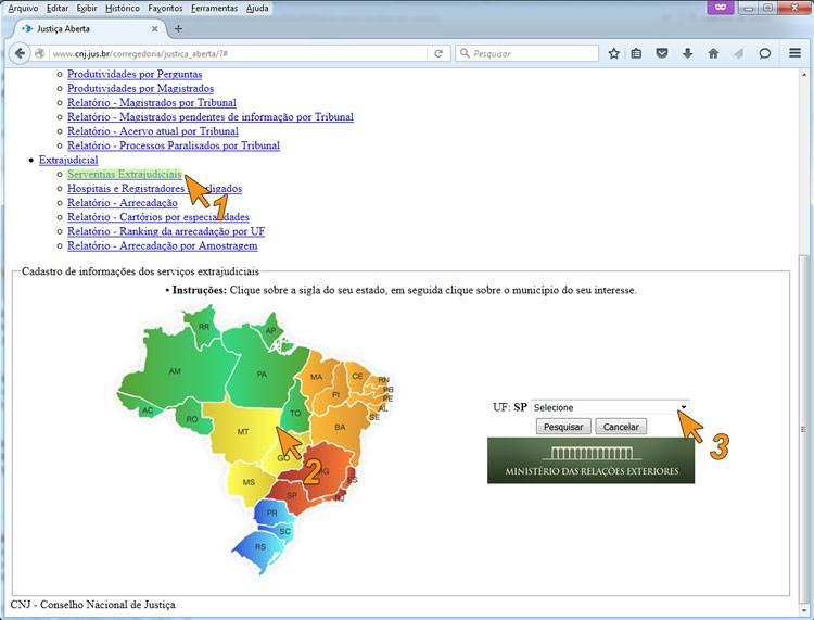 Como localizar os cartórios do Brasil