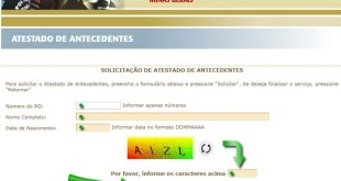 Como tirar Antecedentes Criminais – Estado de Minas Gerais – MG