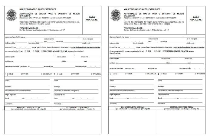Autorização de viagem internacional para menor - portal-consular-dois-em-branco