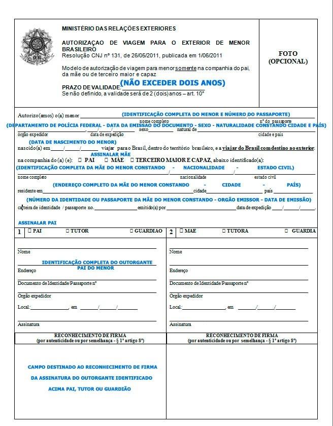 Autorização de viagem internacional para menor - portal-consular-viagem-menor-com-a-mae