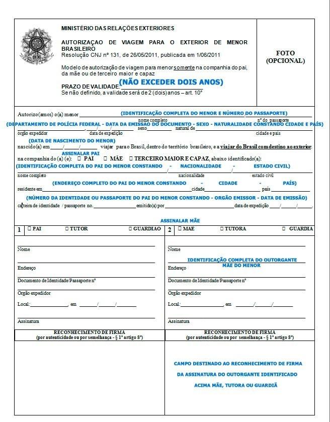 Autorização de viagem internacional para menor - portal-consular-viagem-menor-com-o-pai