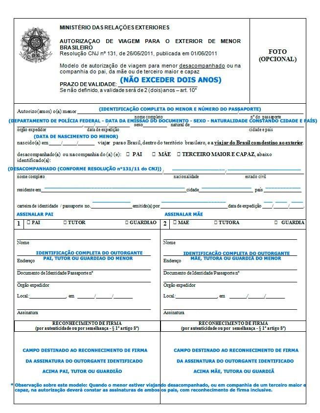 Autorização de viagem internacional para menor - portal-consular-viagem-menor-sozinho