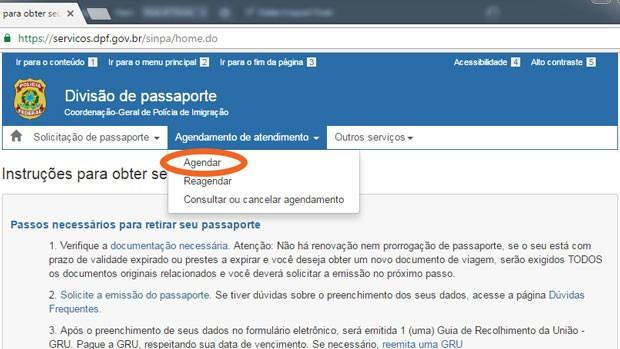 Agendamento passaporte - Como agendar o atendimento