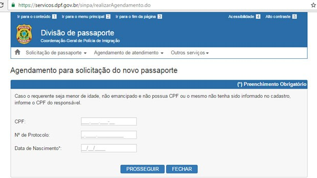 Agendamento passaporte - Como realizar o agendamento