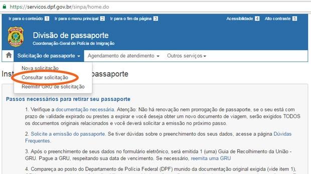 Agendamento Passaporte - Como acompanhar o andamento da solicitação